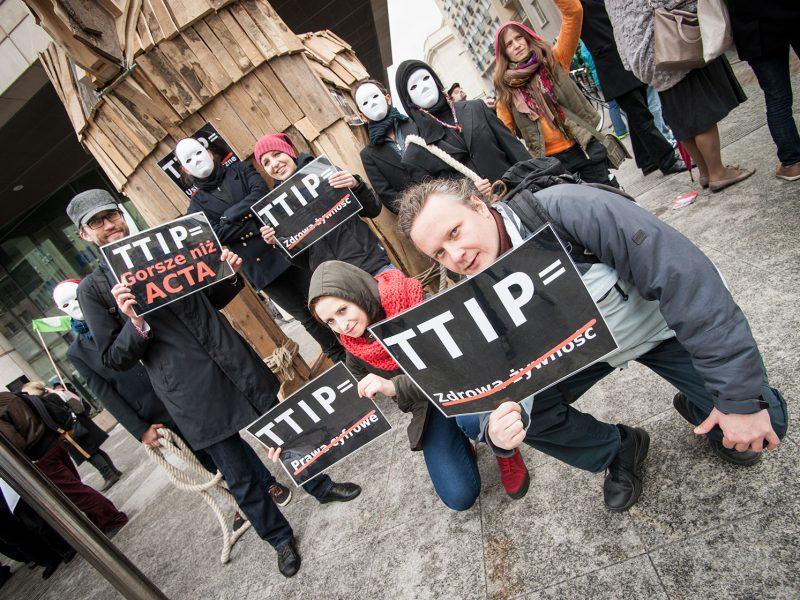 Protest przeciw TTIP