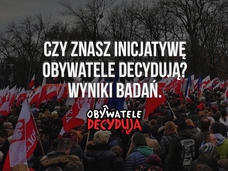 Czy znasz inicjatywę Obywatele Decydują?